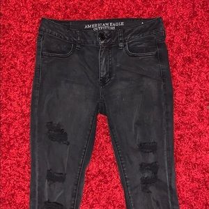 Black American eagle jeans